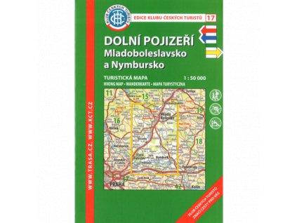 Dolní Pojizeří -  Mladoboleslavsko a Nymbursko -  mapa KČT č.17