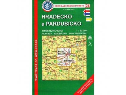 Hradecko a Pardubicko -  mapa KČT č.24