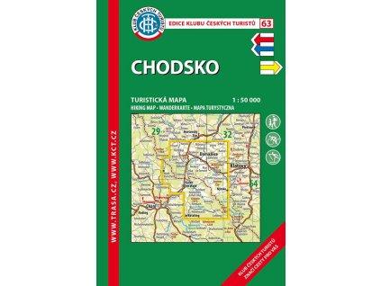 Chodsko -  mapa KČT č.63