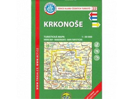 Krkonoše -  mapa KČT č.22