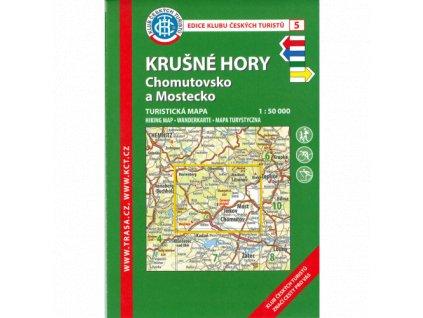 Krušné hory -  Chomutovsko a Mostecko -  mapa KČT č.5