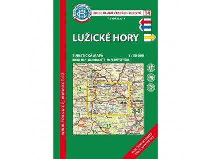 Lužické hory -  mapa KČT č.14