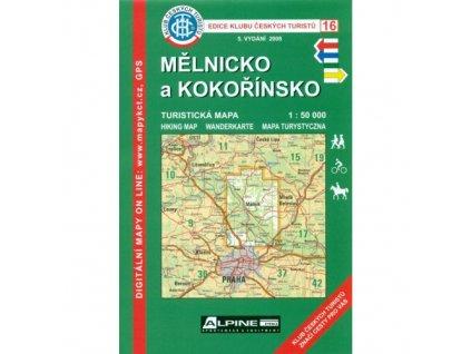 Mělnicko a Kokořínsko -  mapa KČT č.16