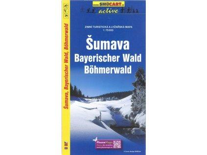 Šumava - zimní turistická a lyžařská mapa