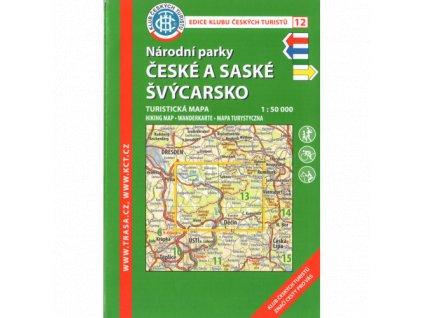 NP České a Saské Švýcarsko -  mapa KČT č.12