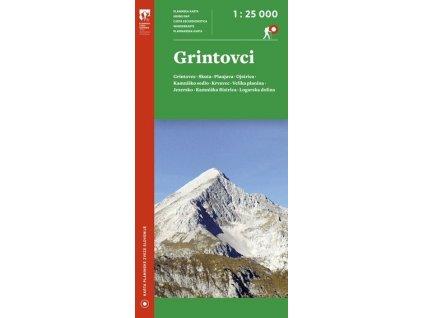 Grintovci  (Grintovec) - turistická mapa