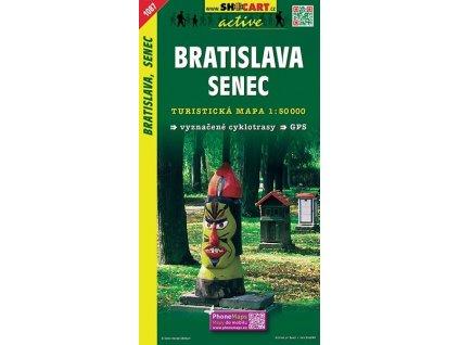 Bratislava,Senec - turistická mapa (shocart č.1087)