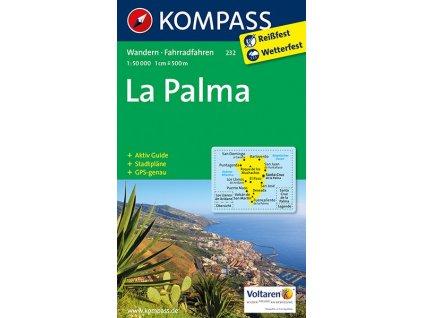 La Palma - turistická mapa (kompass č. 232)