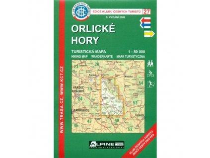 Orlické hory -  mapa KČT č.27