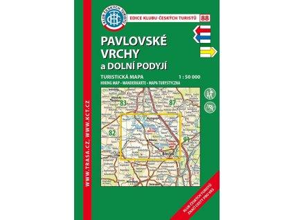 Pavlovské vrchy -  mapa KČT č.88