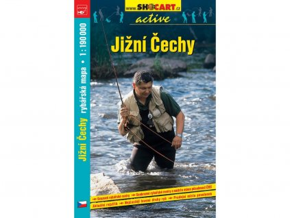 Jižní Čechy - rybářská mapa