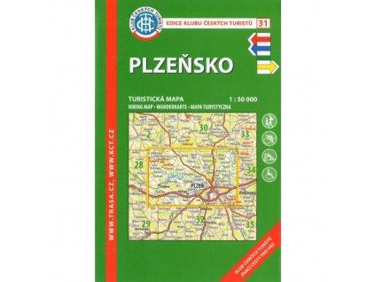 Plzeňsko -  mapa KČT č.31