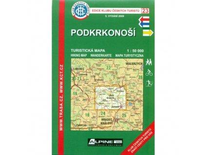 Podkrkonoší -  mapa KČT č.23