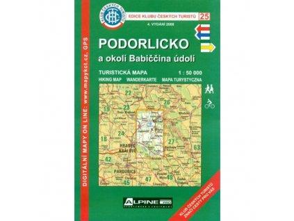 Podorlicko a okolí Babiččina údolí -  mapa KČT č.25