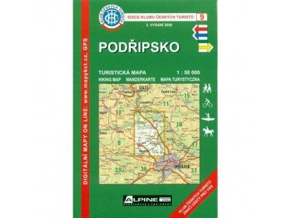 Podřípsko -  mapa KČT č.9