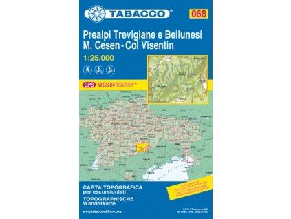 Prealpi Trevigiane e Bellunesi, M. Cesen, Col Visentin (Tabacco 068)