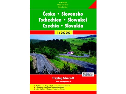 Česko a Slovensko - autoatlas 1:200 000