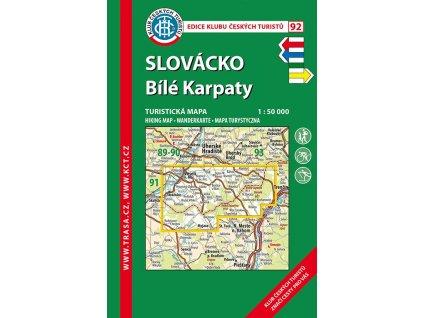 Slovácko -  Bílé Karpaty -  mapa KČT č.92