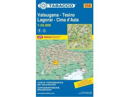 Valsugana, Tesino, Lagorai, Cima d´Asta (Tabacco - 058)