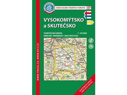 Vysokomýtsko a Skutečsko -  mapa KČT č.47
