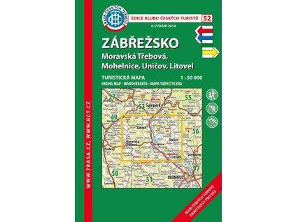 Zábřežsko -  mapa KČT č.52