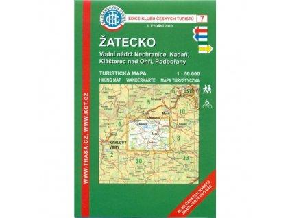 Žatecko -  mapa KČT č.7