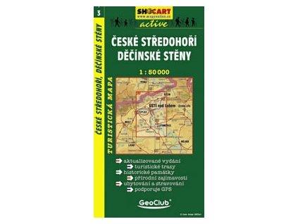 Českéstředohoří,Děčínskéstěny (turistická mapa č. 3)