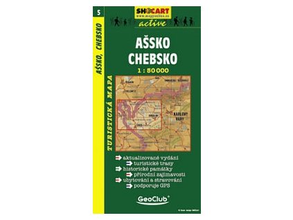 Ašsko,Chebsko (turistická mapa č. 5)