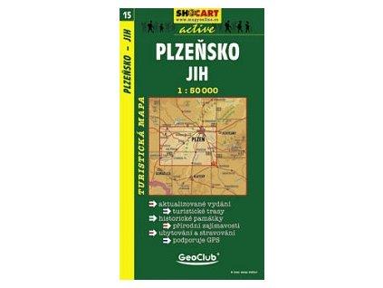 Plzeňsko, jih (turistická mapa č. 15)
