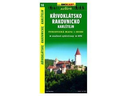 Křivoklátsko,Rakovnicko,Karlštejn (turistická mapa č. 16)