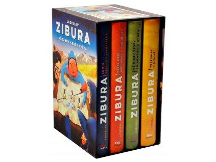Všechny krásy světa (čtyřbox knih + puzzle)