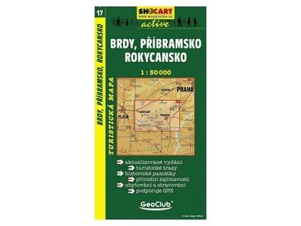 Brdy,Příbramsko,Rokycansko (turistická mapa č. 17)