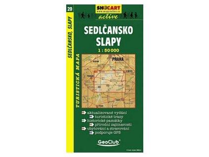 Sedlčansko,Slapy (turistická mapa č. 20)