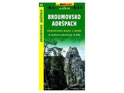 Broumovsko,Adršpach (turistická mapa č. 25)