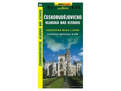 Českobudějovicko,HlubokánadVltavou (turistická mapa č. 40)