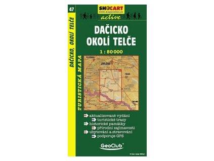 Dačicko,okolíTelče (turistická mapa č. 47)