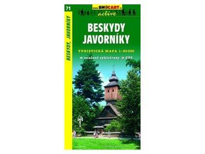 Beskydy,Javorníky (turistická mapa č. 71)