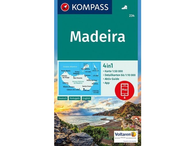 Madeira, turistická mapa (Kompass č.234)