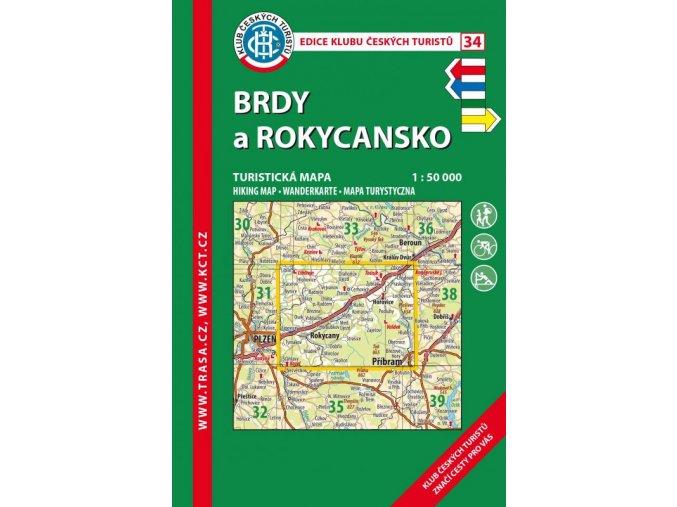 Brdy - Rokycansko -  mapa KČT č.34