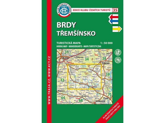 Brdy -  Třemšínsko -  mapa KČT č.35