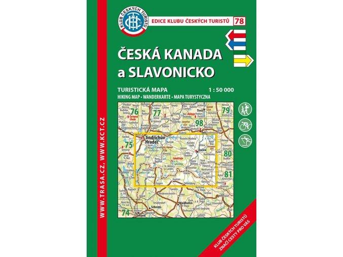 Česká Kanada a Slavonicko -  mapa KČT č.78