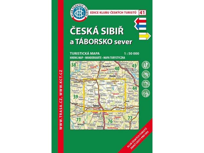 Česká Sibiř a Táborsko sever -  mapa KČT č.41