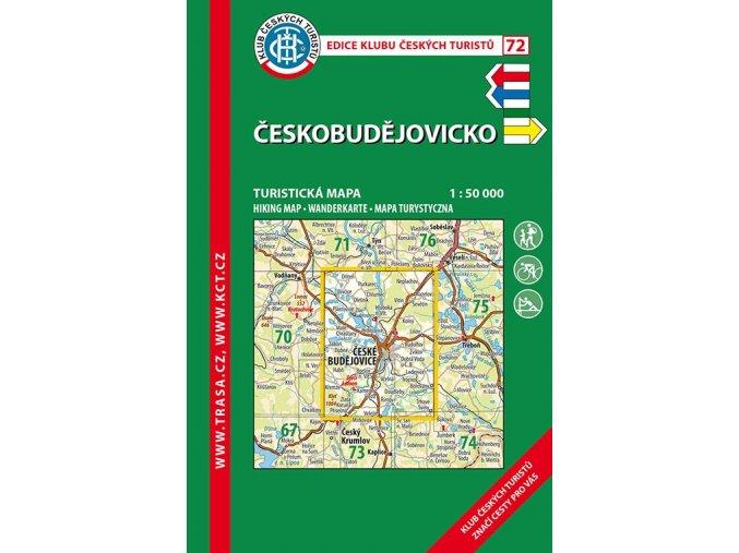 Českobudějovicko -  mapa KČT č.72