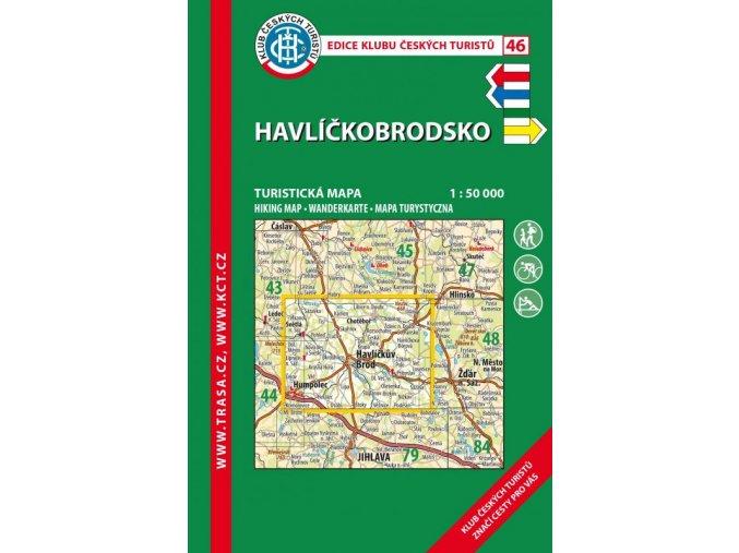 Havlíčkobrodsko -  mapa KČT č.46