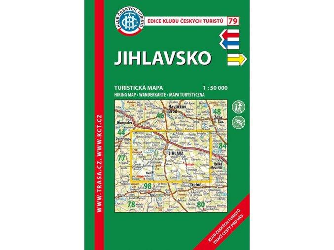 Jihlavsko -  mapa KČT č.79