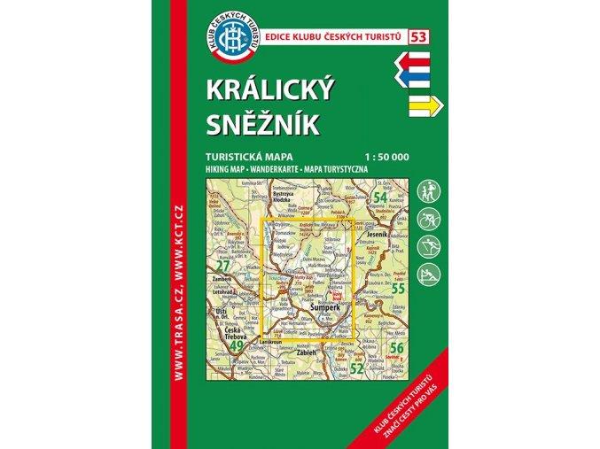 Králický Sněžník -  mapa KČT č.53