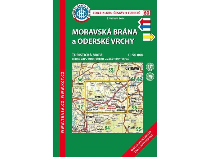 Moravská brána a Oderské vrchy -  mapa KČT č.60