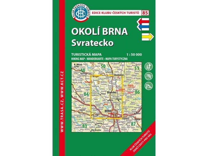Okolí Brna -  Svratecko -  mapa KČT č.85