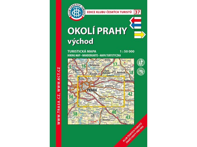 Okolí Prahy -  východ -  mapa KČT č.37