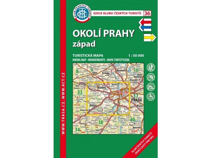 Okolí Prahy -  západ -  mapa KČT č.36